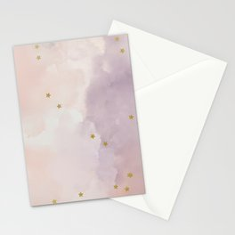 lilac Watercolor Star Stationery Cards