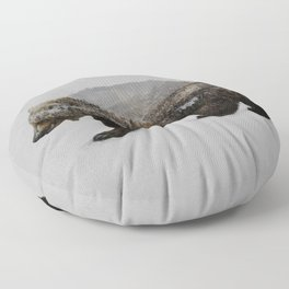 The Kodiak Brown Bear Floor Pillow
