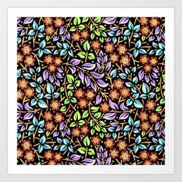Filigree Floral smaller scale Art Print