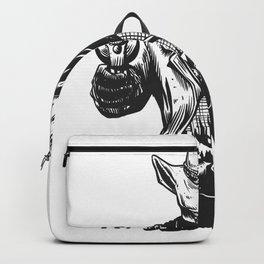 Wild cowboy skeleton - western skull cartoon Backpack