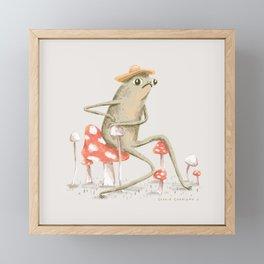 Awkward Toad Framed Mini Art Print