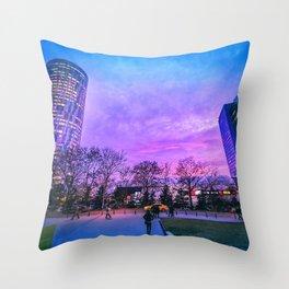 Purple times Throw Pillow