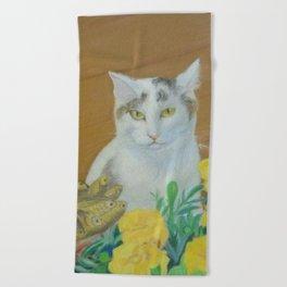 Cat (The Winner) Beach Towel