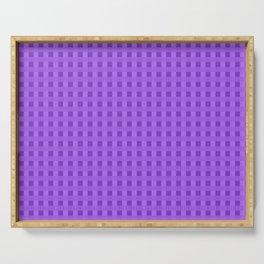 Retro Purple Squares Serving Tray
