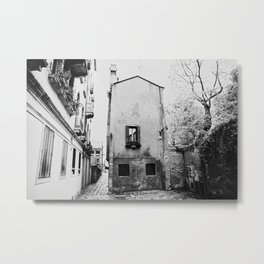 Venice, Italy, Film Photo, Analog, Black and White Metal Print