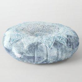 DEEP BLUE MANDALA Floor Pillow