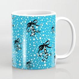 Berry Christmas. Blue Coffee Mug