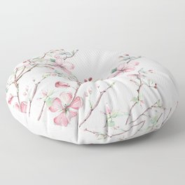 Apple Blossom Pink #society6 #buyart Floor Pillow