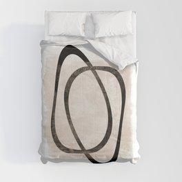 Interlocking Two AA - Minimalist Line Abstract Comforters