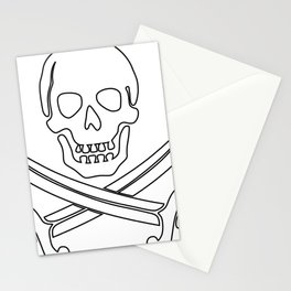 pirate skull Stationery Cards