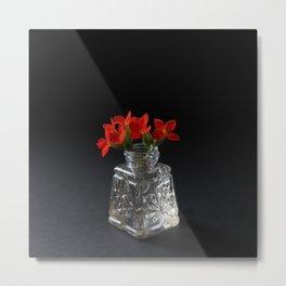 Red Succulent Blossoms Metal Print