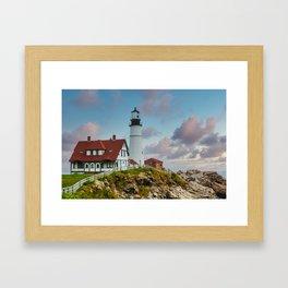 Portland Head Lighthouse at Dusk Framed Art Print