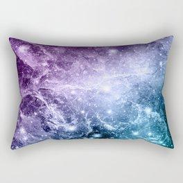 Purple Teal Galaxy Nebula Dream #4 #decor #art #society6 Rectangular Pillow