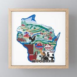Wisconsin Country Sampler Framed Mini Art Print