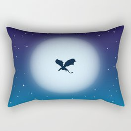 Howling wolf, Flying Dragon Rectangular Pillow