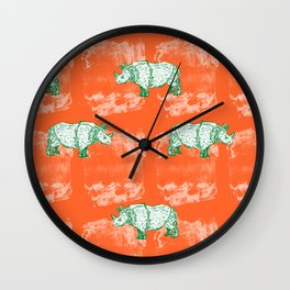 Rhino Summer Wall Clock
