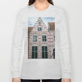 The pink house the three hedgehogs | Hoorn | Netherlands | old City Long Sleeve T-shirt