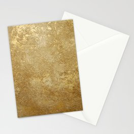 Gold Rush, Golden Shimmer Texture, Exotic Metallic Shine Graphic Design Stationery Cards
