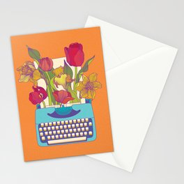 Flowering words Stationery Cards