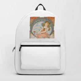 Alphonse Mucha (Alfons Mucha) abst-58 Backpack