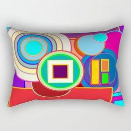 Neon Lights of Abstract Geometry Rectangular Pillow