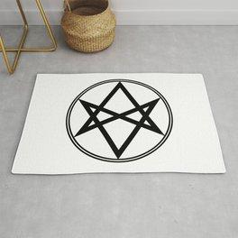 Men of Letters Symbol Black Rug