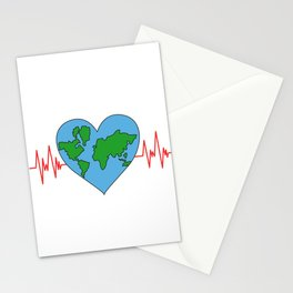 Motivational & Hilarious Improve Tshirt Design IMPROVE THE WORLD Stationery Cards