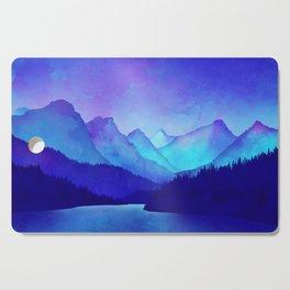 Cerulean Blue Mountains Cutting Board