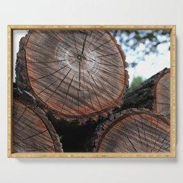 Log Pile Serving Tray
