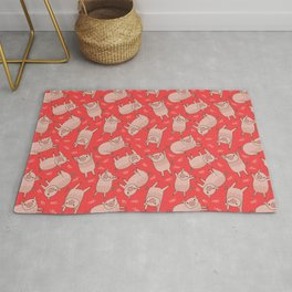 Pattern Project #54 / Piglets (Red Version) Rug