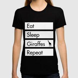 Eat Sleep Giraffes Repeat - Giraffe Desi T-shirt