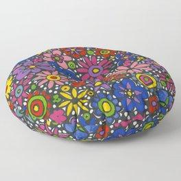 Mille Fleurs by Nettwork2Design - Nettie Heron-Middleton Floor Pillow