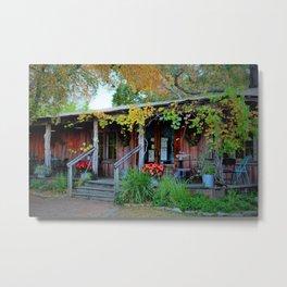 The Grapevine Texas Wine Bar Metal Print