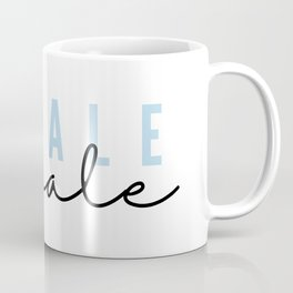 Inhale Exhale in Pastel Blue Script Minimalist Gift Yoga Lover Art Print  Coffee Mug
