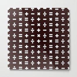 Math Pattern Metal Print