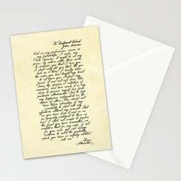 Alexander Hamilton Letter to John Laurens Stationery Cards