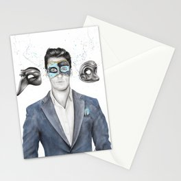 A Man of Many Masks Stationery Cards