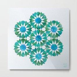 Emerald rosettes - Al-Nasir Muhammad Mosque Metal Print