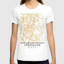 JERUSALEM ISRAEL PALESTINE CITY STREET MAP ART T-shirt
