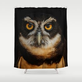Trading Glances with a Spectacled Owl Shower Curtain
