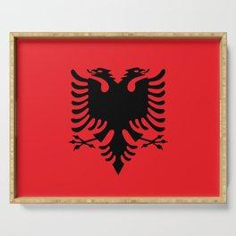 Albanian flag Serving Tray