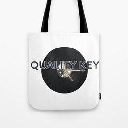 Quality Key: Vinyl Time Tote Bag