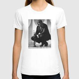 Black and White Photo of MilesDavis  T-shirt