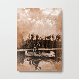 Spearfishing Metal Print