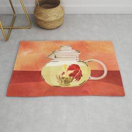 Beta Fish Tea by Kenzie McFeely Rug