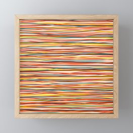 Bright Colorful Lines - Classic Abstract Minimal Retro Summer Style Stripes Framed Mini Art Print