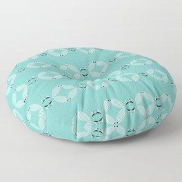 Pisces I Sky Blue, White, Black Floor Pillow