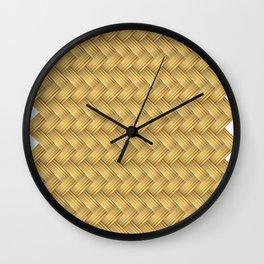 Wood Illustrator Jpg Yellow Brown Brown-Yellow Wall Clock