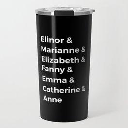 Jane Austen's Heroines I Travel Mug