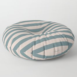 Blue and White Horizontal Stripes | Cabana Poolside Floor Pillow